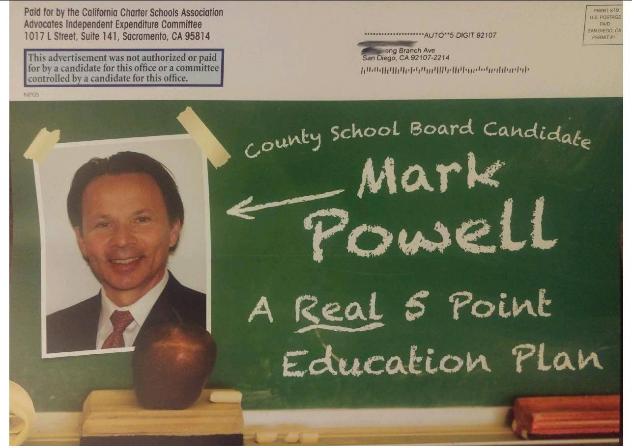 Mark Powell Chalk Board