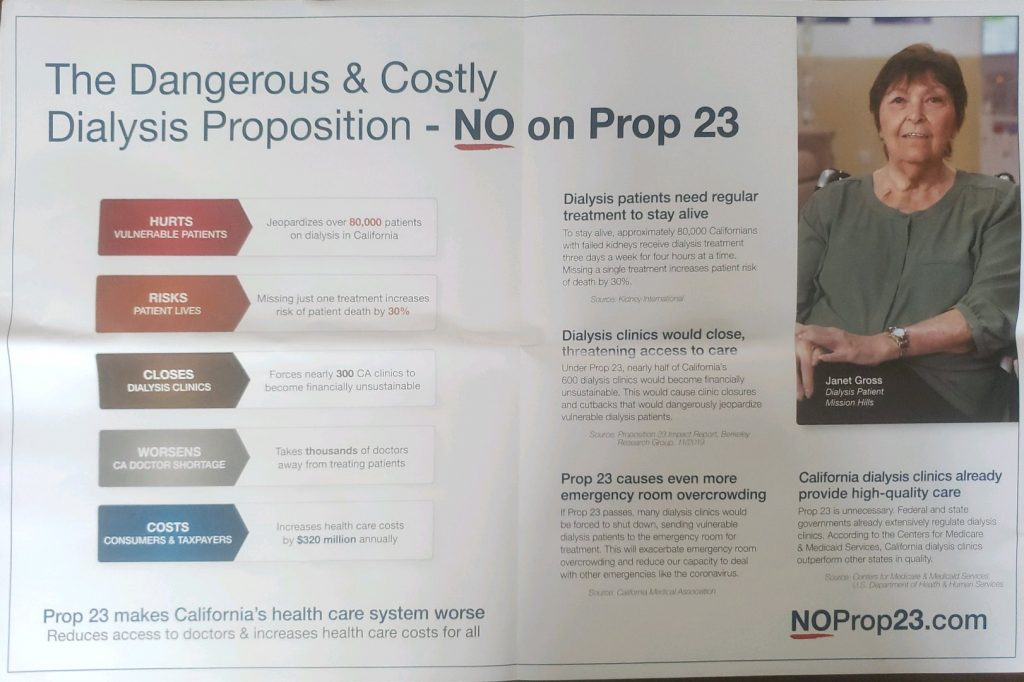 Prop 23 Voter Info - Inside